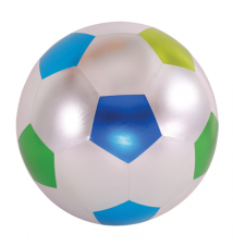 18-Inch Y*all Ball Inflatable Fun Ball Soccer Style Glossy Silver With