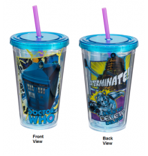 Doctor Who 18 oz. Acrylic Travel Cup With Straw