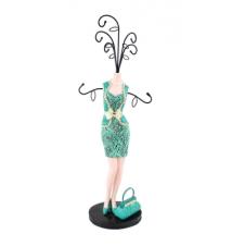 Cosmopolitan Green Mannequin Jewelry Hanger #161