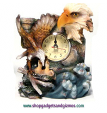 Eagle Head Desk Clock