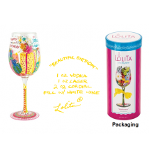 Beautiful Birthday Wine Glass By Lolita #135