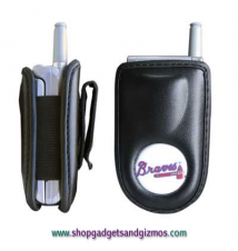 Atlanta Braves Leather Cell Phone Pouch
