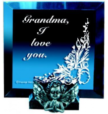 *Grandma* Square Mirror Plaque