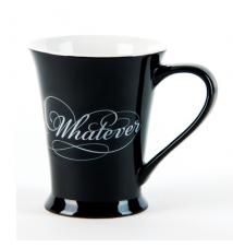 *Whatever* Black Coffee Mug