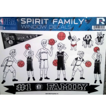 Brooklyn Nets Spirit Family Window Decals