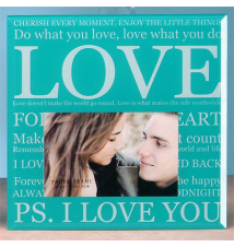 6* x 4* Glass Photo Frame- P.S I Love You