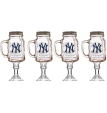 4 Pack New York Yankees Redneck Beer/Wine Glass