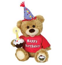 10* Chantilly Lane Cupcake Birthday Bear #237