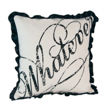 *Whatever* Canvas Pillow By JKC Studio