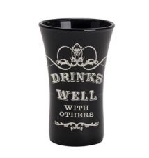 *Drinks Well With Others* Shot Glass