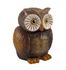 Brown Ceramic Owl Cookie Jar