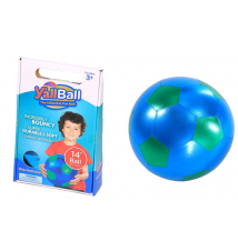 14-Inch Y*all Ball Inflatable Fun Ball Soccer Style With Green Pentago