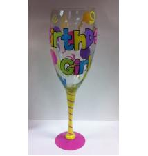 Giant Wine Glass- Birthday Girl