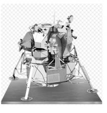 Apollo Lunar Module Metal Earth 3D Laser Cut Model By Fascinations #04