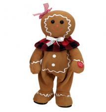 Gingerbread Girl *We Wish You A Merry Christmas* Chantilly Lane Bear #