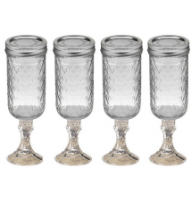 4 PACK  -  Redneck Champagne Flute Glass 12oz