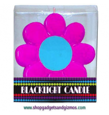 Black Light Flower Power Candle