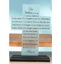 *Lords Prayer* Glass Cross