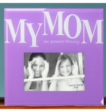 6* x 4* Glass Photo Frame- Mom