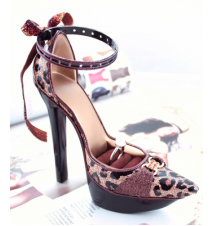 Brown Leopard Platform Shoe Ring Holder #19