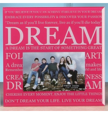 6* x 4* Glass Photo Frame- Dream