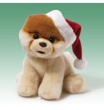Boo World*s Cutest Dog Plush 9* With Santa Hat