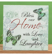 Blue Spring Theme Wall Plaque - Home