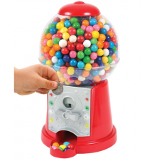 Electronic Bubble Gum Machine And Savings Bank With Lights