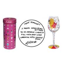 *Not Tonight* Wine Glass by Lolita #70