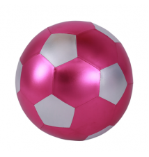 14-Inch Y*all Ball Inflatable Fun Ball Soccer Style Pink