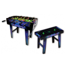 2 in 1 Foosball/Air Hockey Standing Game Table