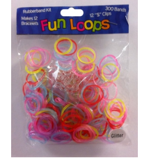Fun Loops Bands #124- Jelly Glitter Rainbow