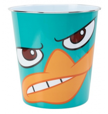 Disney Phineas and Ferb*s Perry The Platypus Wastebasket