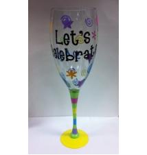 Giant Wine Glass-  Let*s Celebrate
