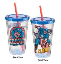 Captain America 18oz Acrylic Drinking Cup #48