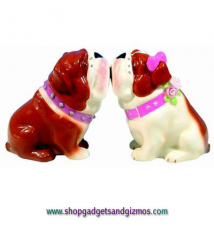 Bulldogs Kiss Magnetic Salt & Pepper Shakers #71