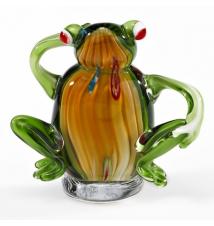 Badash Crystal Art J509 Glass Sitting Frog