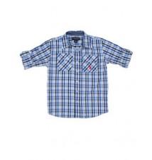 Boys Long Sleeve Plaid Shirt