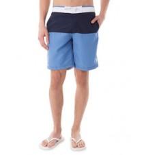 Color Block Waistband Swim Shorts