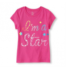 star girl graphic tee Children's Place