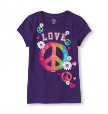 peace daisy graphic tee Children's Place