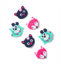 Cute Critters Felt Hair Clips Set of 6 Claires