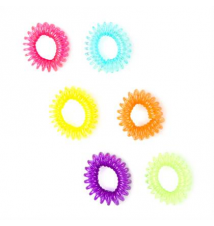 Neon Phone Cord Ponytail Holders Set of 6 Claires