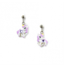 Glitter Unicorn Drop Earrings Claires