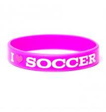 I Love Soccer Rubber Bracelet Claires