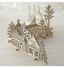 3-Piece Laser-Cut Village Crate and Barrel