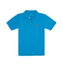 Boys Pique Small Logo Polo Shirt
