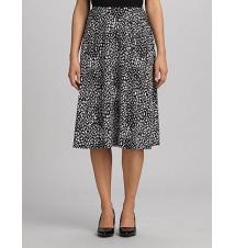 Animal-Print Pull-On Skirt Dress Barn