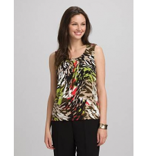 JONES STUDIO Abstract Leopard Print Tank Dress Barn