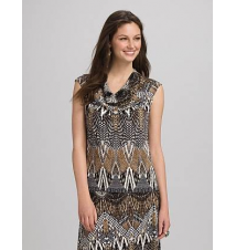 JONES STUDIO Graphic Neutral Tank Dress Barn